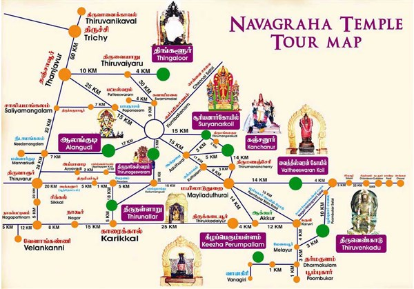 Navagraha Temples Tour from Madurai to Madurai.